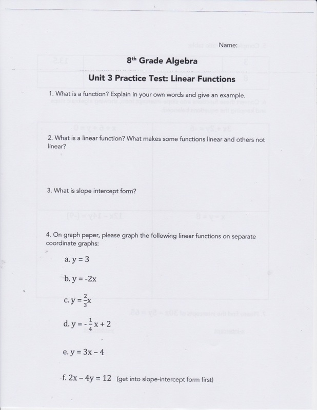 Unit 3 Practice Test - Have a Problem? Use Math to Solve It!